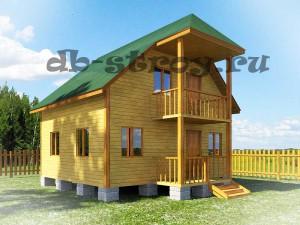 Дом 6 на 7 с террасой и балконом 1,5 на 3 метра