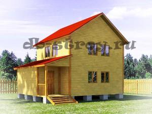 проект двухэтажного дома 6 на 8 метров ДБ-22