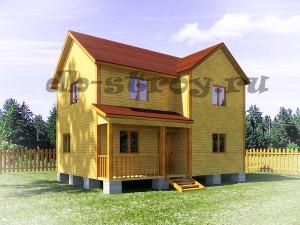 проект ДБ-23, дом в 2 этажа с 3 фронтонами