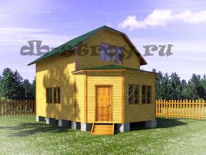 проект дома ДБ-26 6х8 м