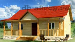 одноэтажный дом 8х9 с террасой, ДБ-50