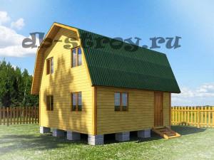 Проект дома 6х6 м с ломаной крышей ДБ-8
