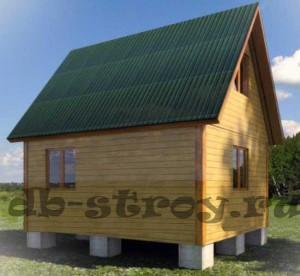 Дачный дом 4х5 м с террасой 2,5х1 м