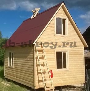 Фото дома из профилированного бруса по проекту ДБ-1