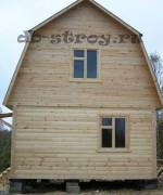 Фото деревянного дома 4 на 5 метров по проекту ДБ-2