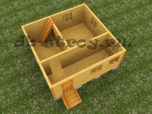 план первого этажа модель проекта деревянного дома ДБ-9