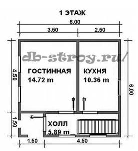 План 1-го этажа ДБ-7