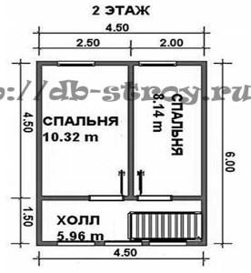 схема мансардного этажа проекта ДБ-7