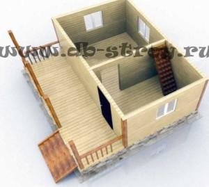 3D модель первого этажа проекта ДБ-5