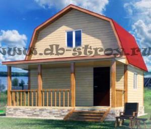 Проект дома ДБ-5, дом 4 на 6 плюс терраса 2 на 6 м