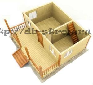 3-d модель первого этажа