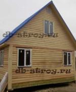 фото дома 4х6 м с прямой крышей
