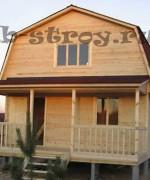 фотография дома из бруса 6х6 с террасой