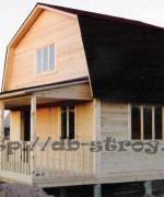 фото брусового дома 6 на 6 м с каркасной мансардой