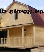 фото брусового дома по проекту ДБ-11