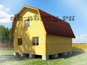 Вид дома 6 на 7 м с зади