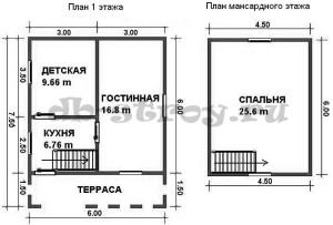 план-схема этажнй проекта ДБ-11