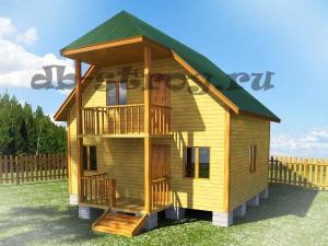 дом 6х7 м с террасой и балконом
