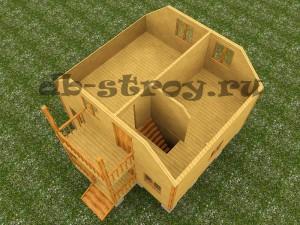 модель второго этажа проекта ДБ-12