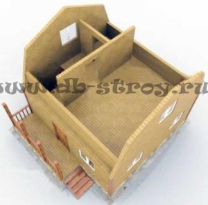 3d модель мансардного этажа проекта ДБ-14