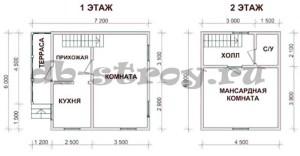 план дома по проекту ДБ-14