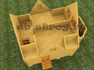 модель мансардного этажа проекта ДБ-17