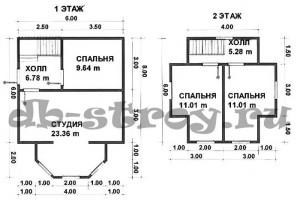 планировка этажей, проект ДБ-17