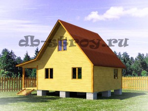 проект каркасного дома ДБ-20 вид с зади