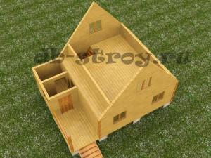 3d модель мансардного этажа проекта ДБ-20