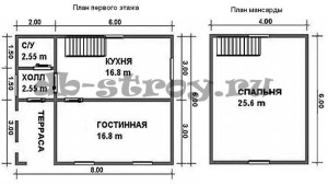 планировка дома ДБ-20