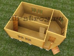 модель 1-го этажа, проект ДБ-21