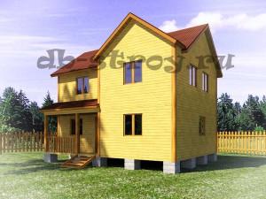 двухэтажный проект дома ДБ-23
