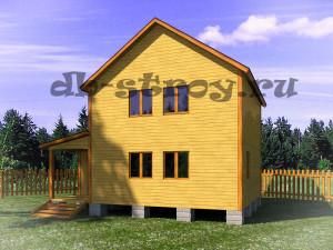 двухэтажный дом с крыльцом и тамбуром