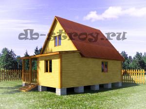 вид дома сборку по проекту ДБ-25