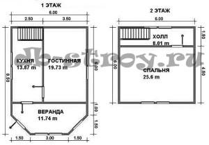 план-схема этажей, проект ДБ-26