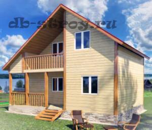 визуализация проекта деревянного дома ДБ-28