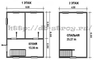 Планировка дома по проекту ДБ-8