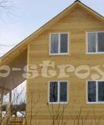 дом с косой крышей, переработанный проект ДБ-18