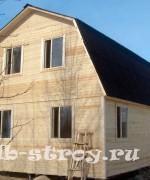 фото дома с ломаной крышей размерами 8х6 м