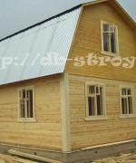 брусовой дом 6х6 м с ломаной крышей