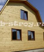 фото дома, видоизмененный проект деревянного дома ДБ-39