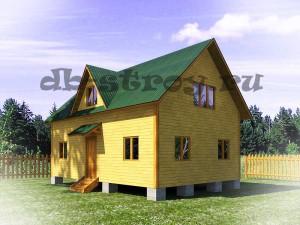 вид модели деревянного дома с другого бока