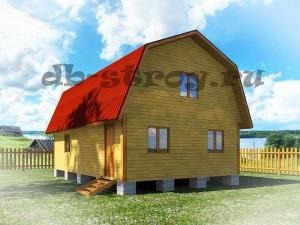 модель дома по проекту ДБ-32 6х9