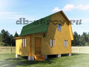 брусовой дом 7х8 с прихожей и санитарным узлом