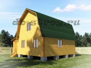 проект дома ДБ-35 6х7 м пристройкой 2х4 м