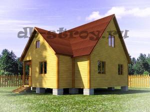 модель дома ДБ-36 7,5х8 м, виды фасадов дома
