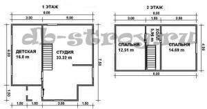 планировка дома, проект ДБ-36