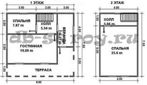 план дома по проекту ДБ-37