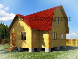 3d модель проекта дома 7,5х8 м