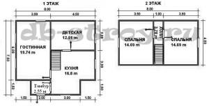 планировка проекта дома ДБ-38